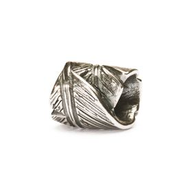 Trollbeads Feather Sterling Silver Bead