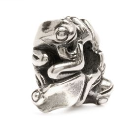 Trollbeads Four Frogs - Big Sterling Silver Bead
