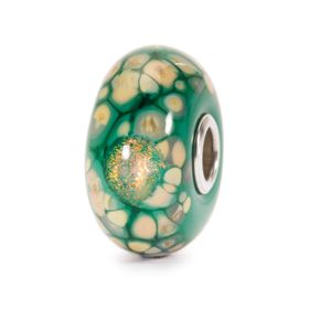 Trollbeads Green Flower Mosaic Glass