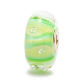 Trollbeads Green Stripe Bubble Glass