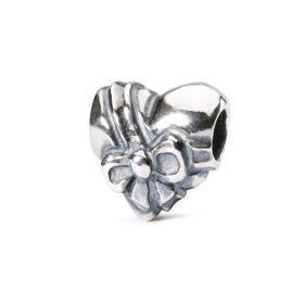 Trollbeads Heart Bow Sterling Silver Bead