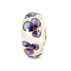 Trollbeads Ivory Violets Glass