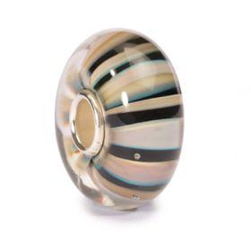 Trollbeads Khaki Stripe Glass