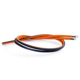 Trollbeads Leather Bracelet Orange & Navy 45cm - Excludes Lock
