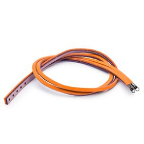 Trollbeads Leather Bracelet Pumpkin & Grape 36cm - Excludes Lock