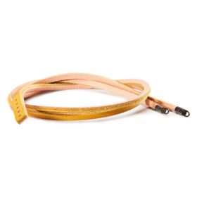 Trollbeads Leather Bracelet Yellow & Light Pink 45cm - Excludes Lock