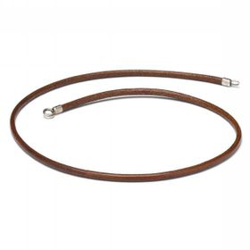 Trollbeads Leather Necklace Brown 45cm - Excludes Lock