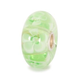 Trollbeads Light Green Flower Glass