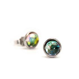 Trollbeads Little Iris Earrings Silver & Glass