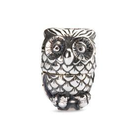 Trollbeads Night Owl Fantasy Pendant - Silver