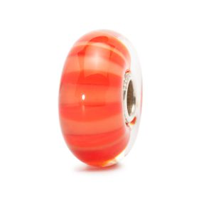 Trollbeads Peach Stripe Glass