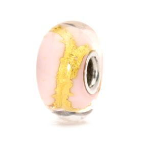 Trollbeads Pink Gold Glass & Gold