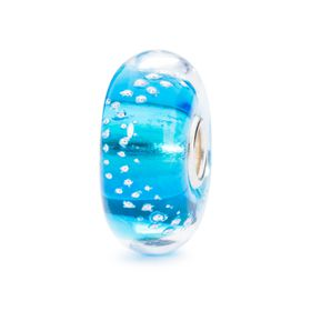 Trollbeads Silver Trace Turquoise - Glass