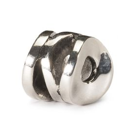 Trollbeads Smiling Cylinder Sterling Silver Bead