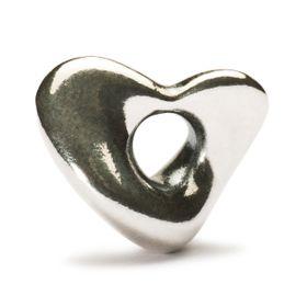 Trollbeads Soft Heart Sterling Silver Bead