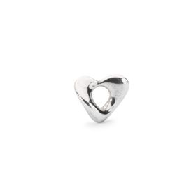 Trollbeads Soft Heart - Small Sterling Silver Bead