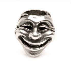 Trollbeads Theatre Masks Sterling Silver Bead