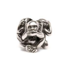 Trollbeads Three Monkeys Sterling Silver Bead