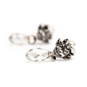 Trollbeads Trolls Earrings Silver & Pearl & Swarovski Crystal