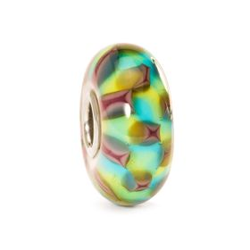 Trollbeads Turquoise & Purple Chess Glass