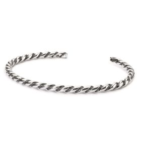Trollbeads Sterling Silver Twisted Bangle (Size: M)