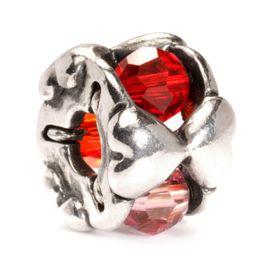 Trollbeads Valentine Sterling Silver & Glass