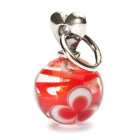 Trollbeads Valentine LoveRed - Sterling Silver & Glass