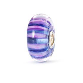 Trollbeads Violet Stripe Glass