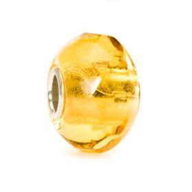 Trollbeads Yellow Prism Glass