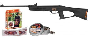 Gamo Bear Grylls Scout Adventure 4.5mm Air Rifle, Targets & Ammo Set