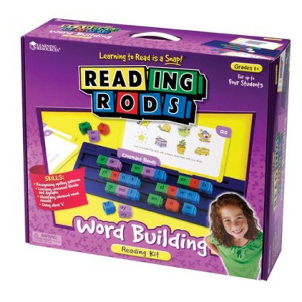 Learning Resources Reading Rods Word Building Reading Kit