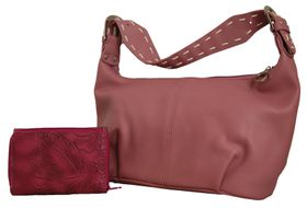 Fino PU Leather Bag with Purse - Pink