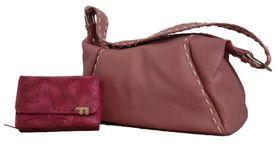 Fino PU Leather Fashion Bag with Purse - Pink