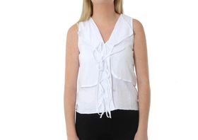 The Earth Collection Ladies Sleeveless Layered Top - White