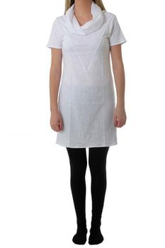 The Earth Collection Ladies Tunik with Collar - White