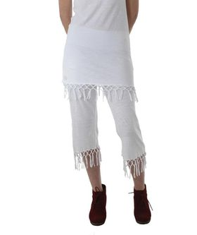 The Earth Collection Ladies Tunik with Tassels - White