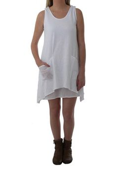 The Earth Collection Ladies Loose Layered Dress - White