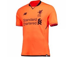 New Balance Men's Liverpool LFC 2017/18 3rd Replica Jersey - Orange