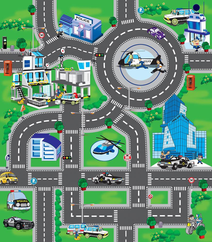 My Dream Mat Kids Police Playmat Buy Online In South