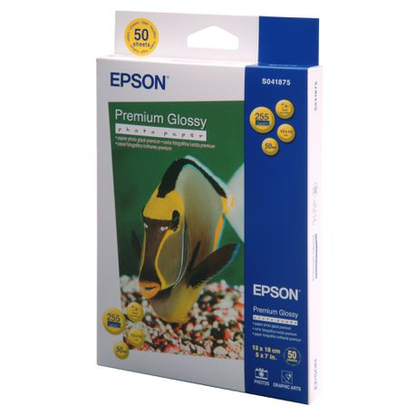Epson Premium Glossy 255gsm Photo Paper - 13x18cm (50 Sheets)