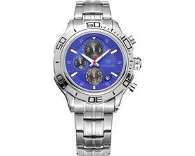 Skyla Jewels Megir 2019 Men's Full Chronograph Movement Watch - Blue Face
