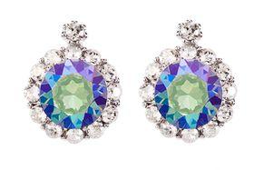 Civetta Spark Brilliance Earrings Swarovksi Crystal In Paradise Shine