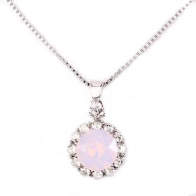 Civetta Spark Brilliance Pendant Swarovksi Crystal In Rose Water Opal & Sterling Silver Chain