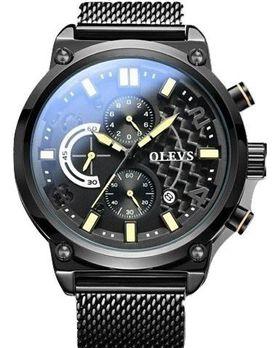 Olevs Mens Sports Watch - Yellow