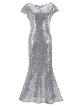 All That Glitters Evening Dress - Silver