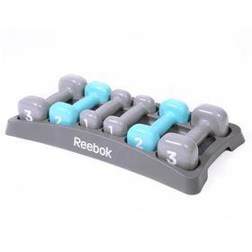 Reebok Dumbbell Set with Case - Grey/Blue