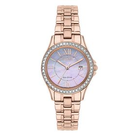 Citizen Ladies Eco-Drive Rose Gold-Plated Bracelet Watch (Parallel Import)