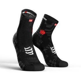 Compressport Pro Racing Socks, Run Hi V3.0 Black - T1