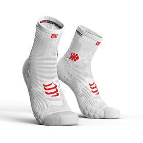 Compressport Pro Racing Socks, Run Hi V3.0 White - T4