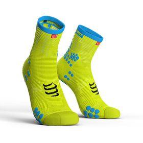 Compressport Pro Racing Socks, Run Hi V3.0 Fluo Yellow - T3